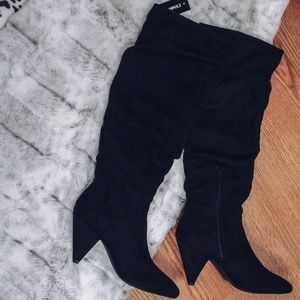 NWT Express Slouch Knee-High Boots
